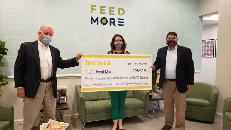 Ferrovial check presentation at Feed More