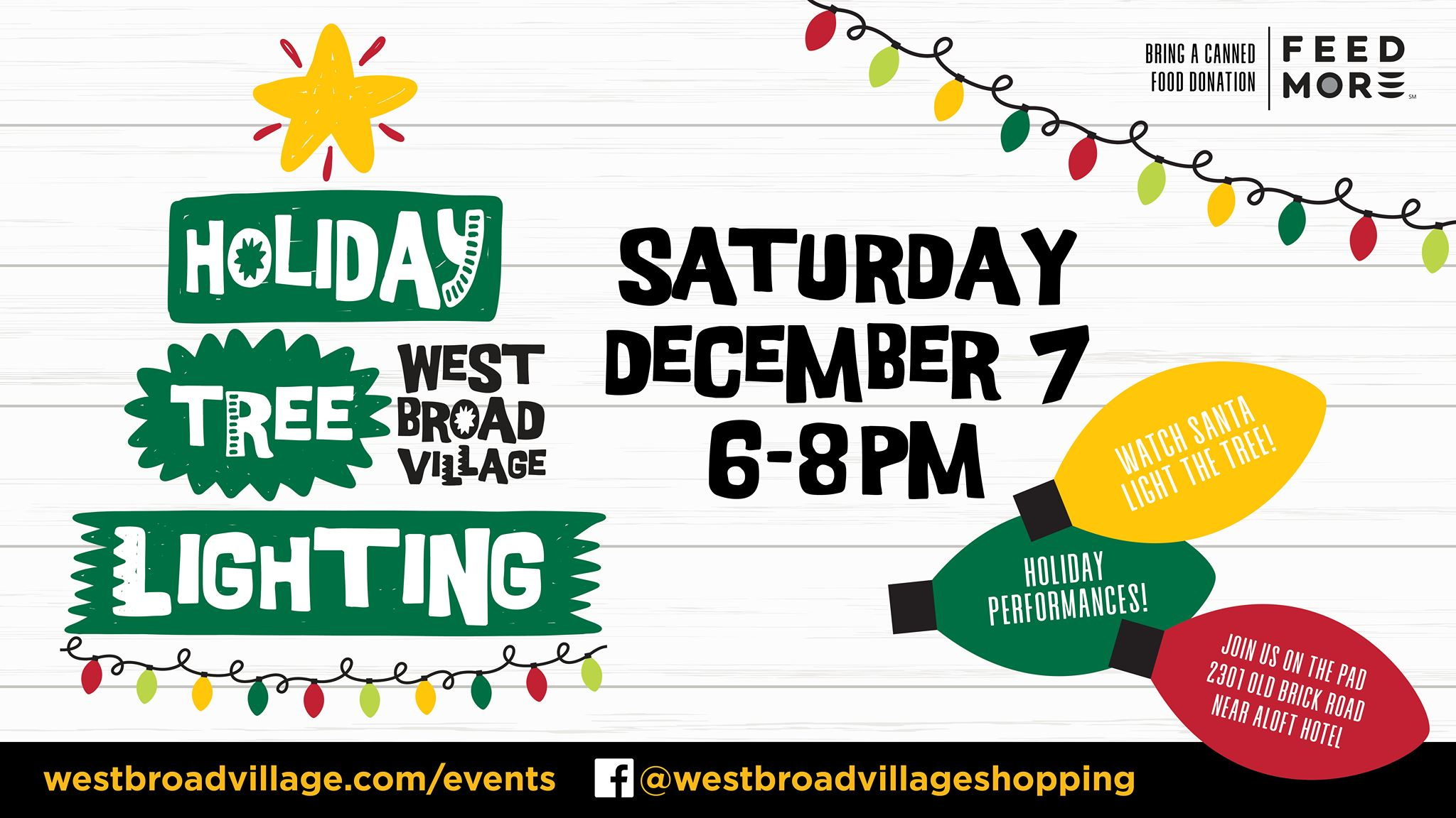Annual Holiday Tree Lighting at West Broad Village