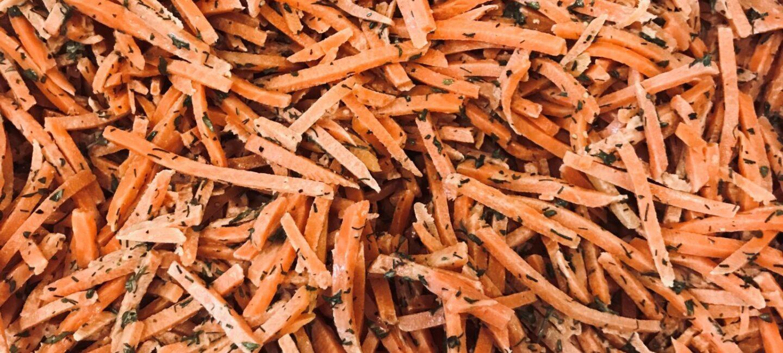 Feed More's lemon carrot dill salad