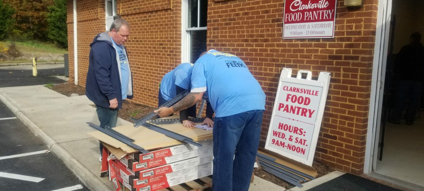 Clarksville Food Pantry makeover 2