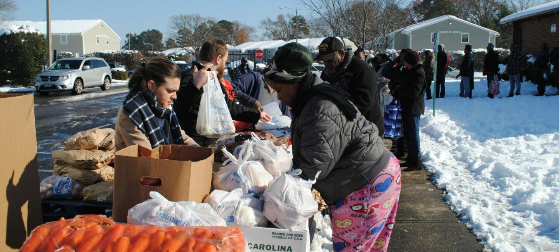 Richmond Christmas Mother Mobile Pantry distribution December 11