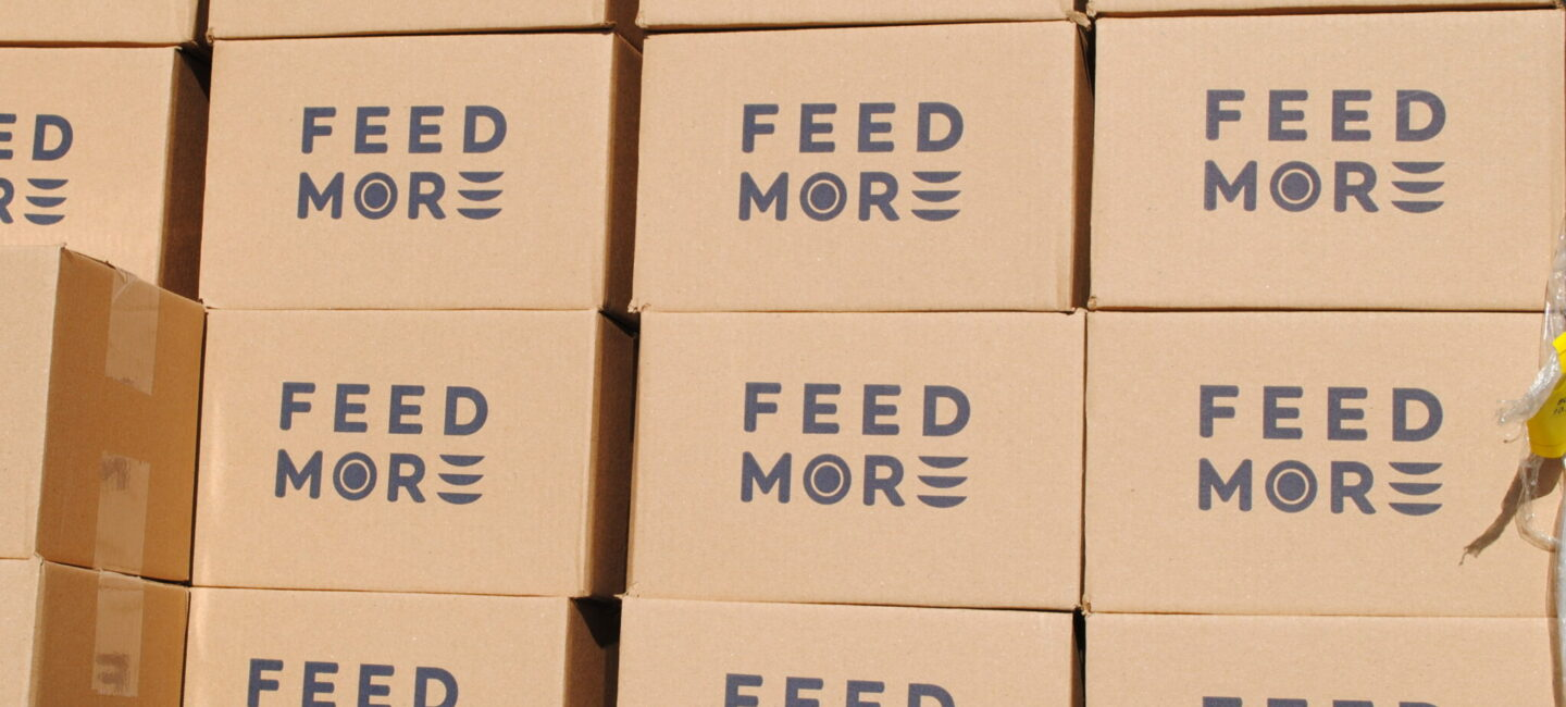 Feed More boxes for Mobile Pantry distributions
