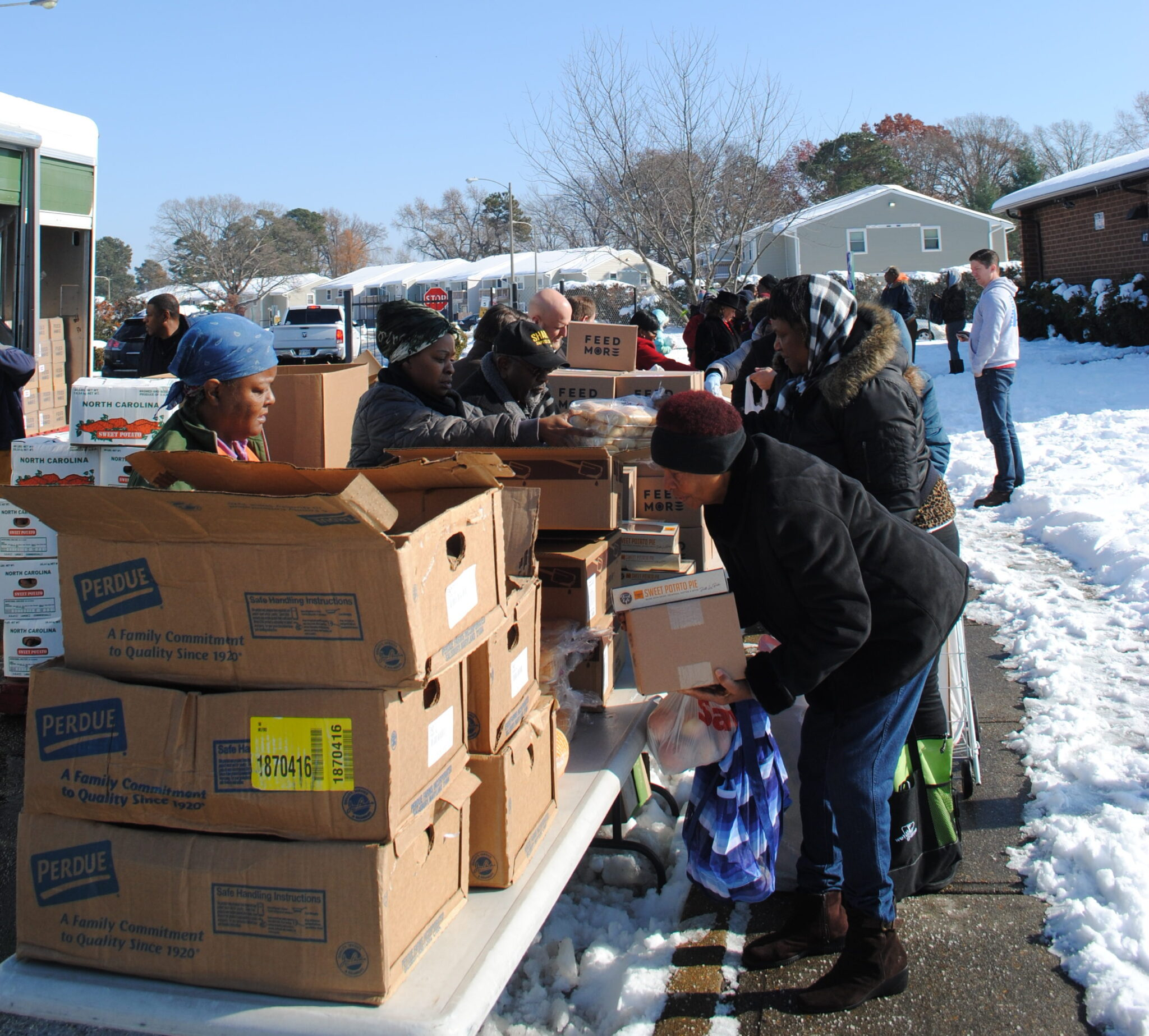 Feed More Mobile Pantry distribution Perdue