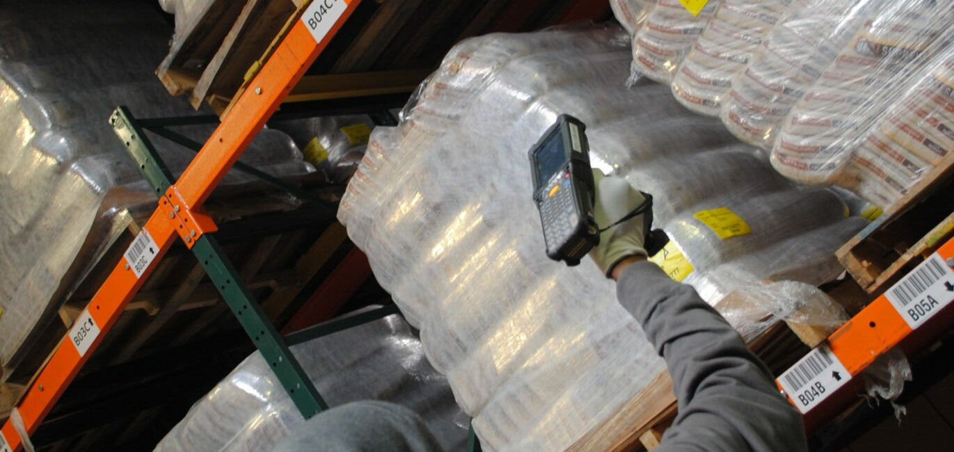 Handheld scanners in Food Bank Distribution Center