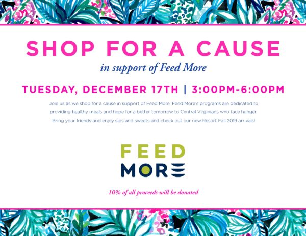 Lilly Pulitzer Shop for a Cause + Feed More