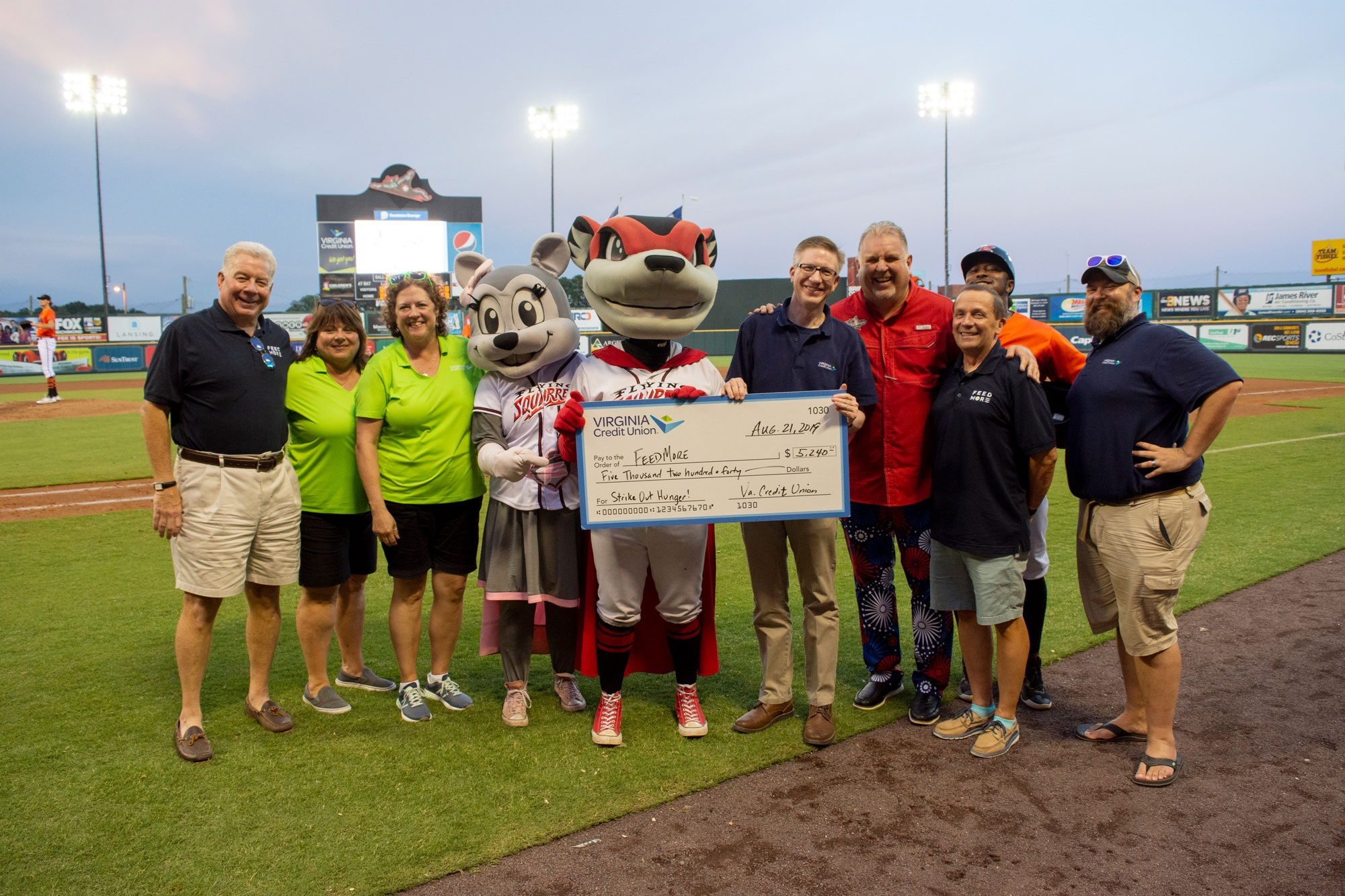 Feed More + VACU Strike Out Hunger Richmond Flying Squirrels 2019