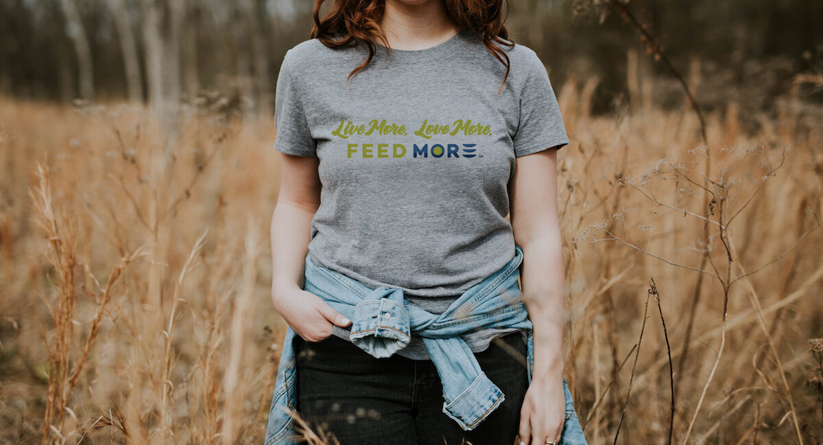 Live more. Love more. Feed More t-shirt sale