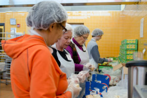 Women in hairnet