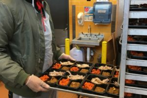 Trays of Meals on Wheels meals