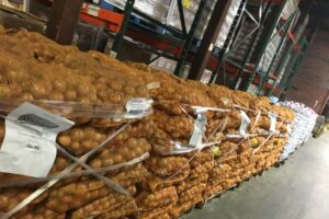 Pallets of onions