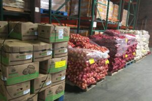 Pallets of produce