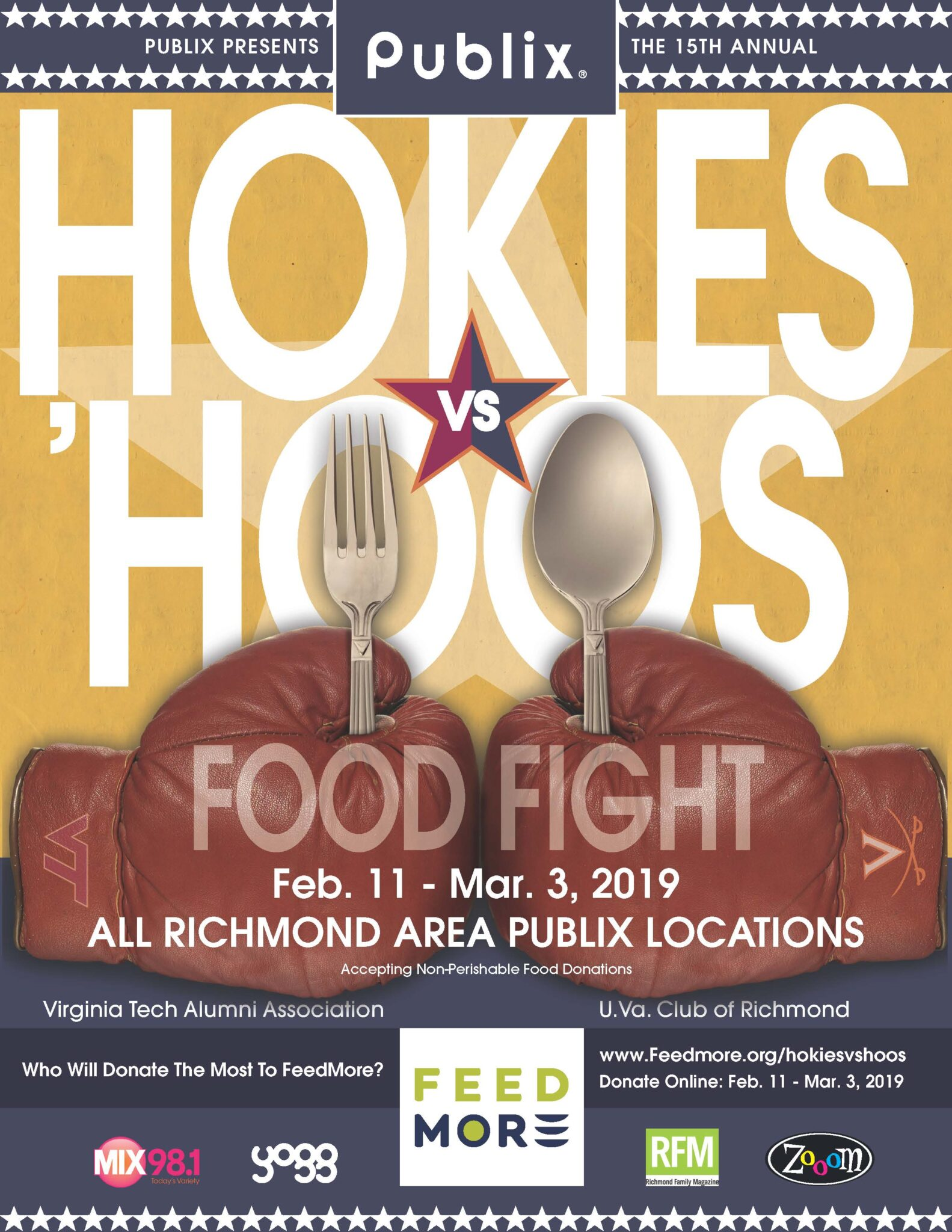 Hokies vs. Hoos Food Fight 2019