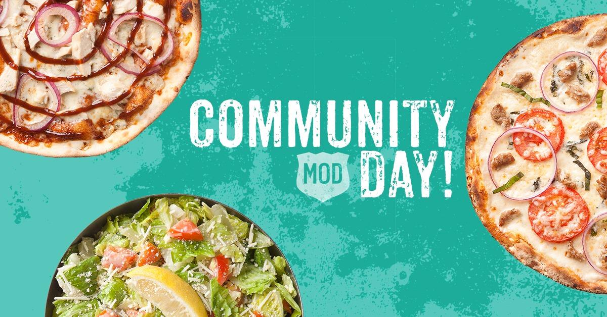 MOD Pizza Community Day July 12