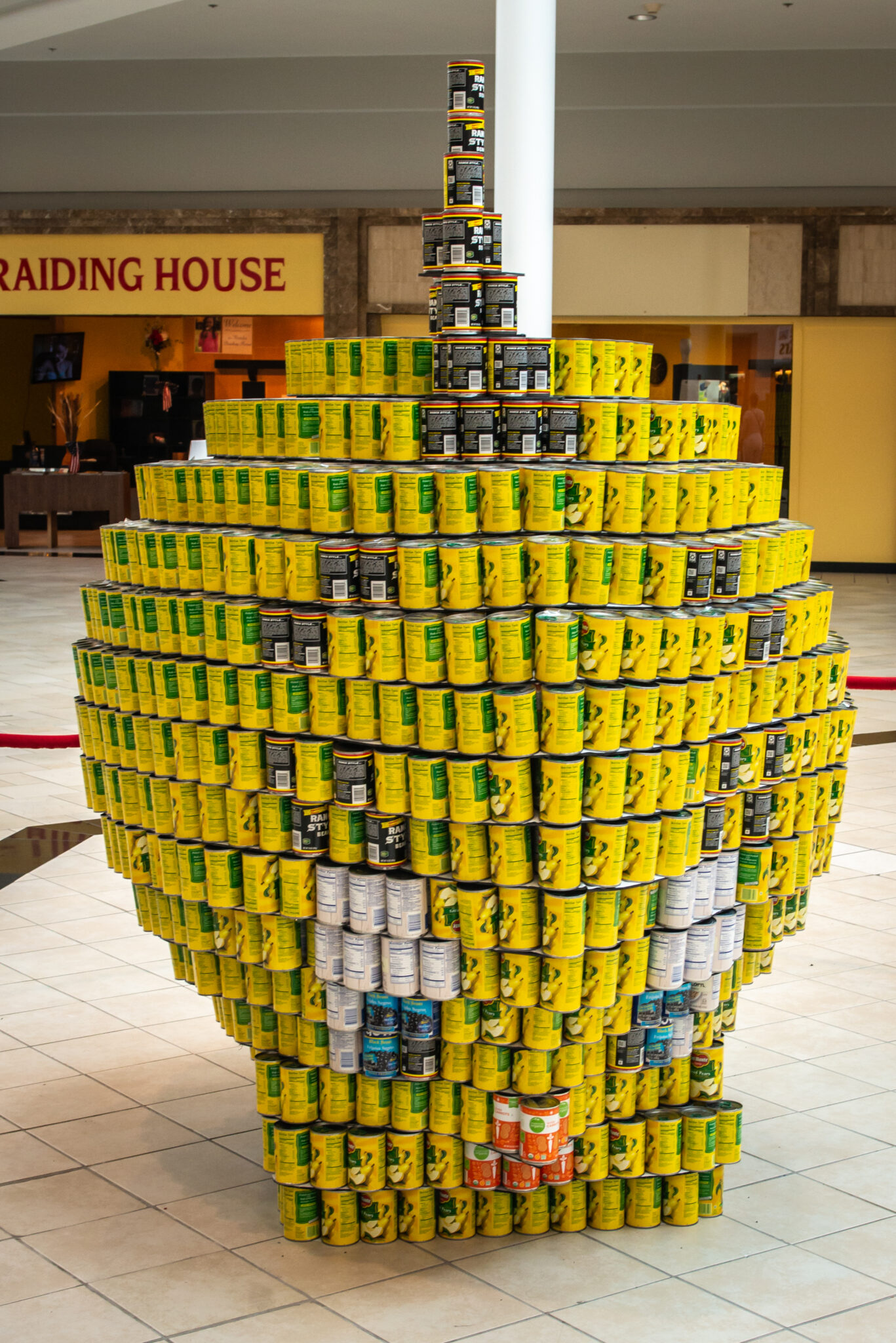 Richmond CANstruction tweety bird