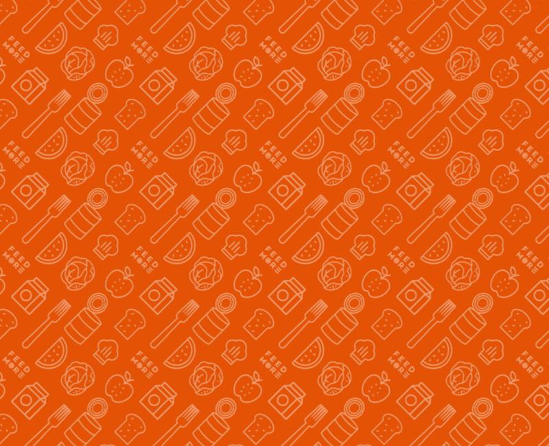 Feed More orange pattern