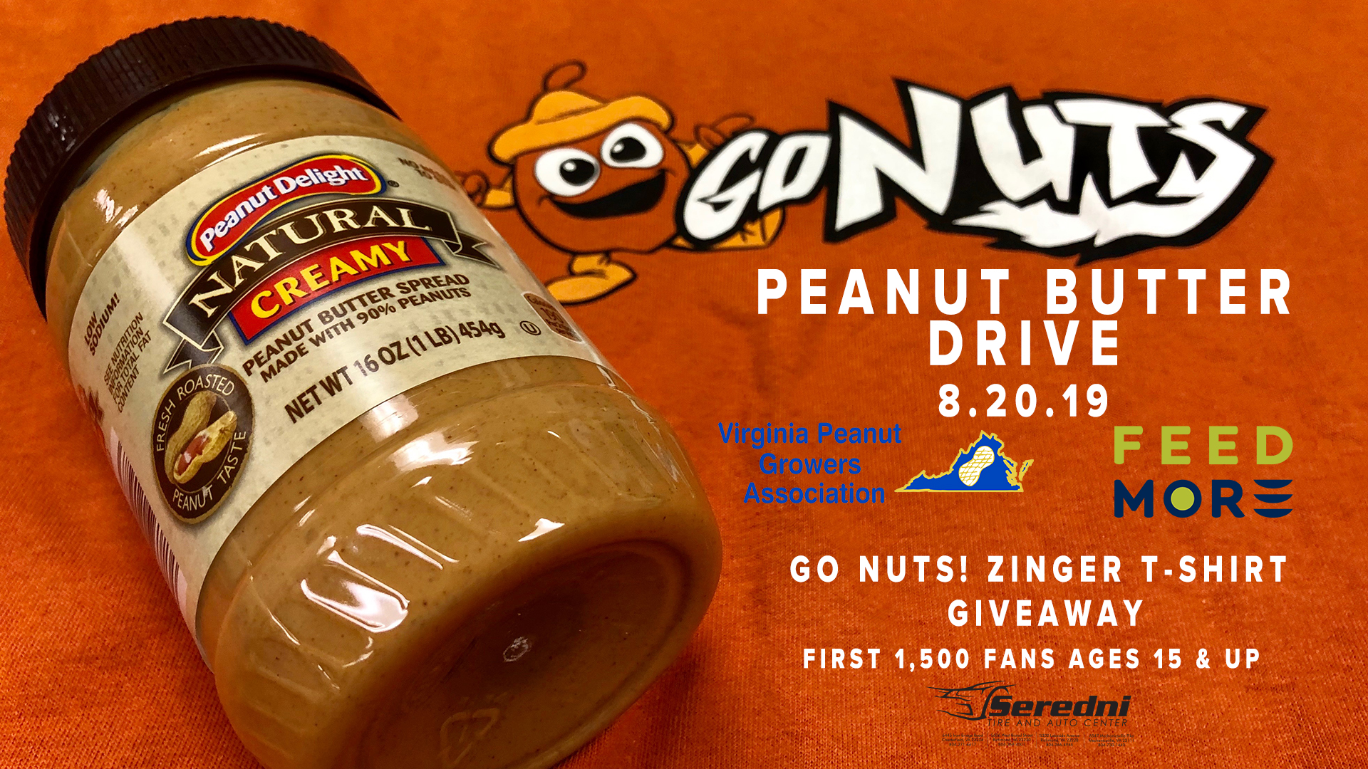 Peanut Butter Drive Richmond Flying Squirrels