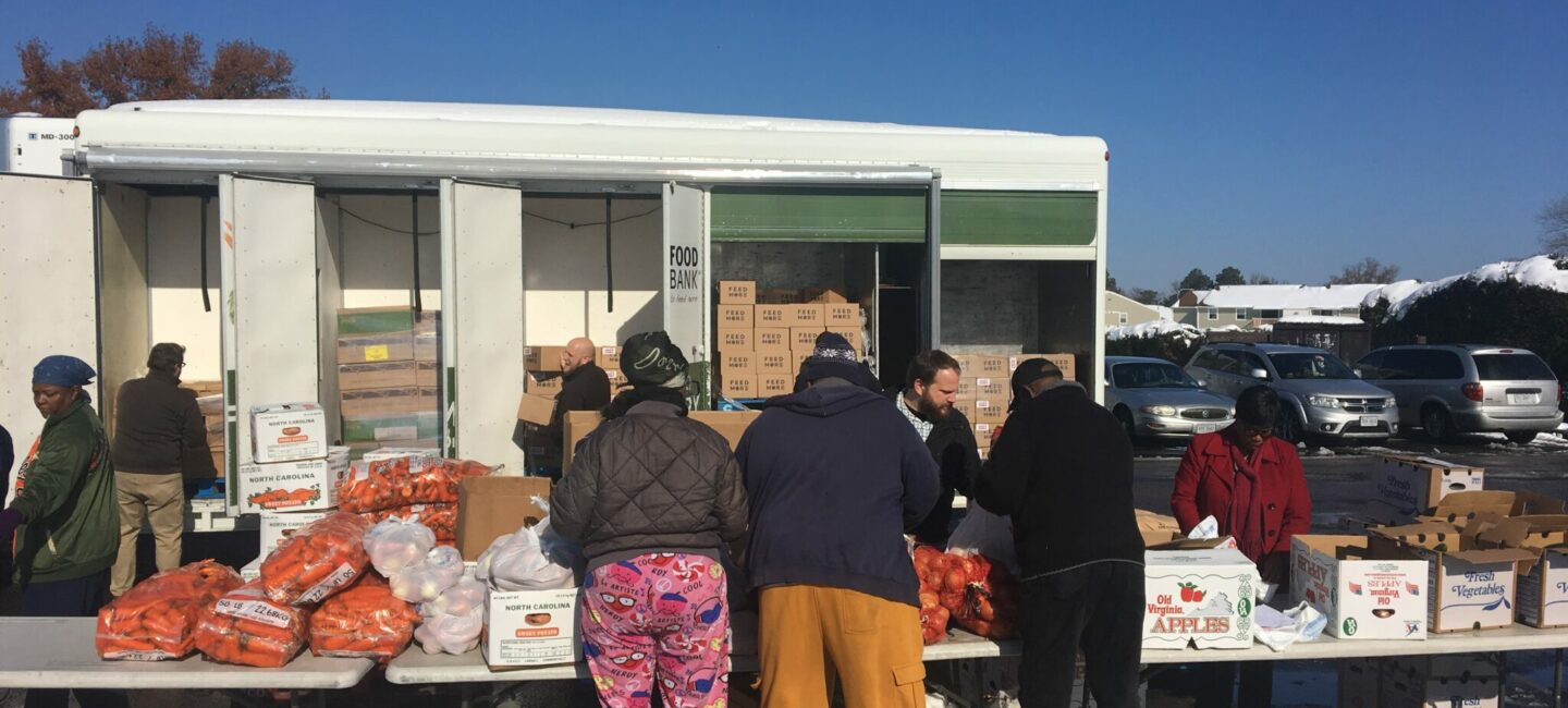 Feed More Mobile Pantry distribution winter