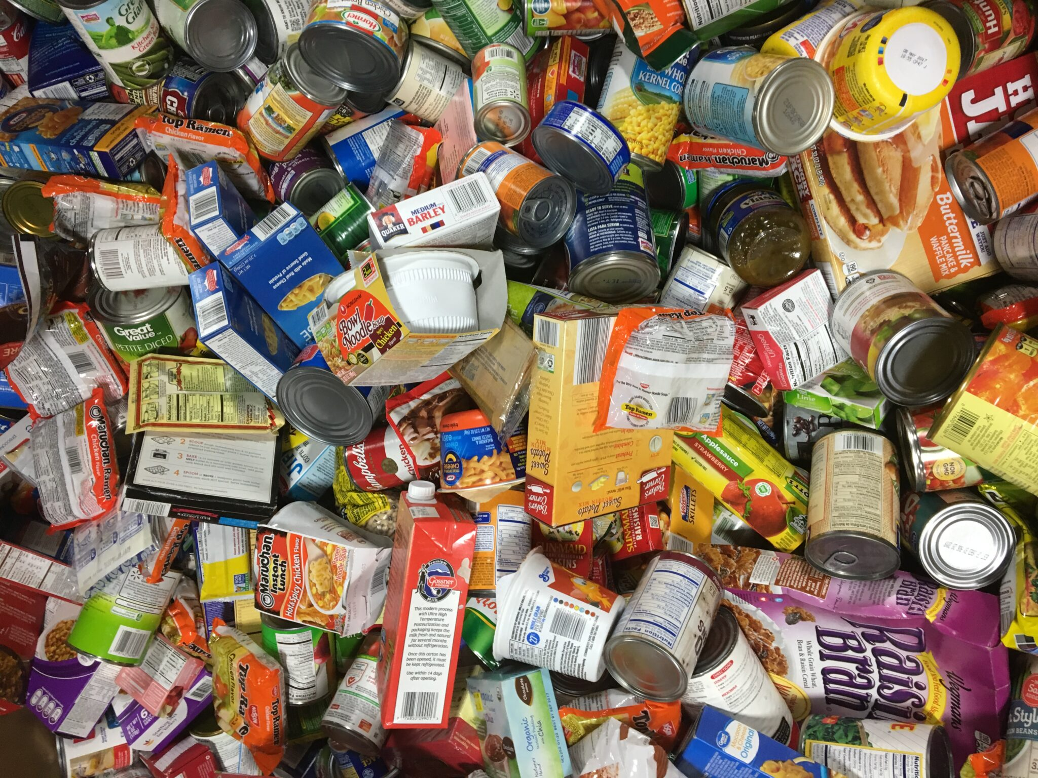 Nonperishable food donations