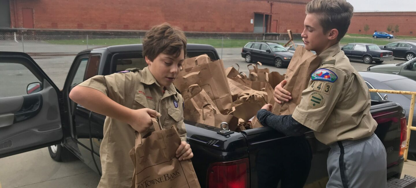 Boy Scouts Scouting for Food