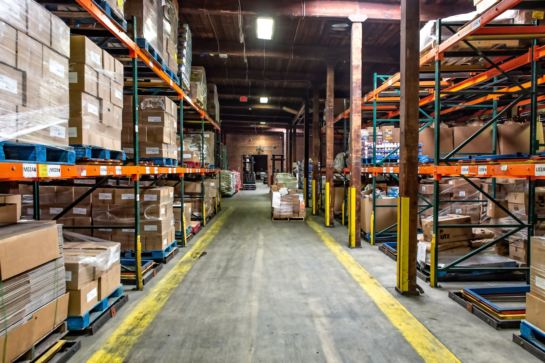 Feed More Food Bank Distribution Center racking