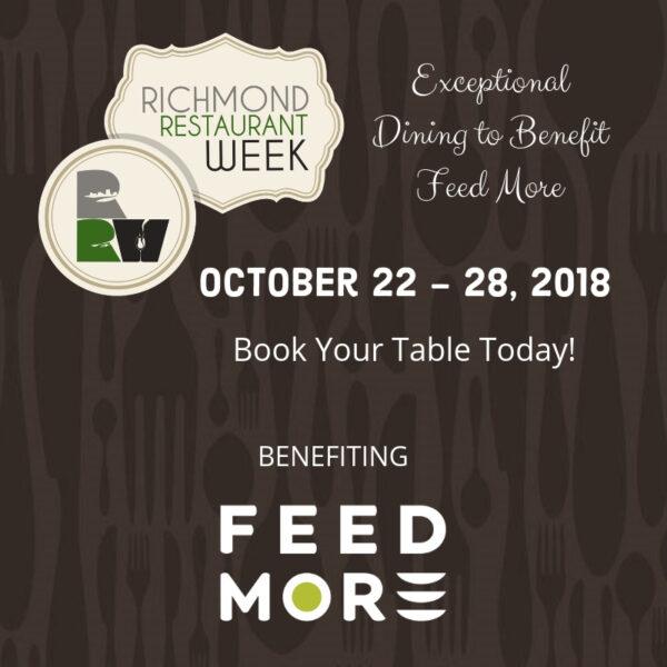 Richmond Restaurant Week Fall 2018