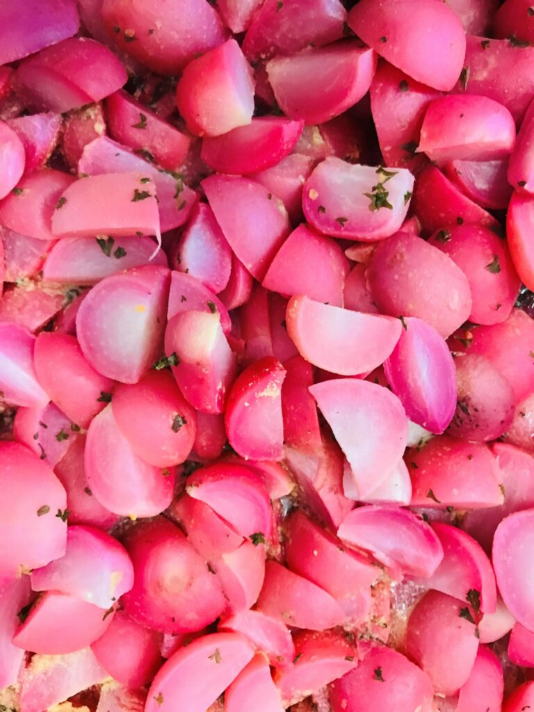 Feed More buttered radishes