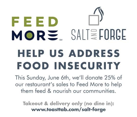 Salt + Forge fundraiser for Feed More