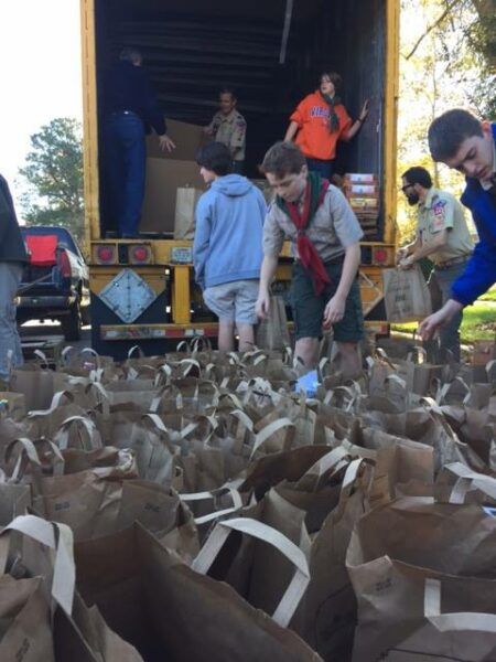 Scouting for Food donations