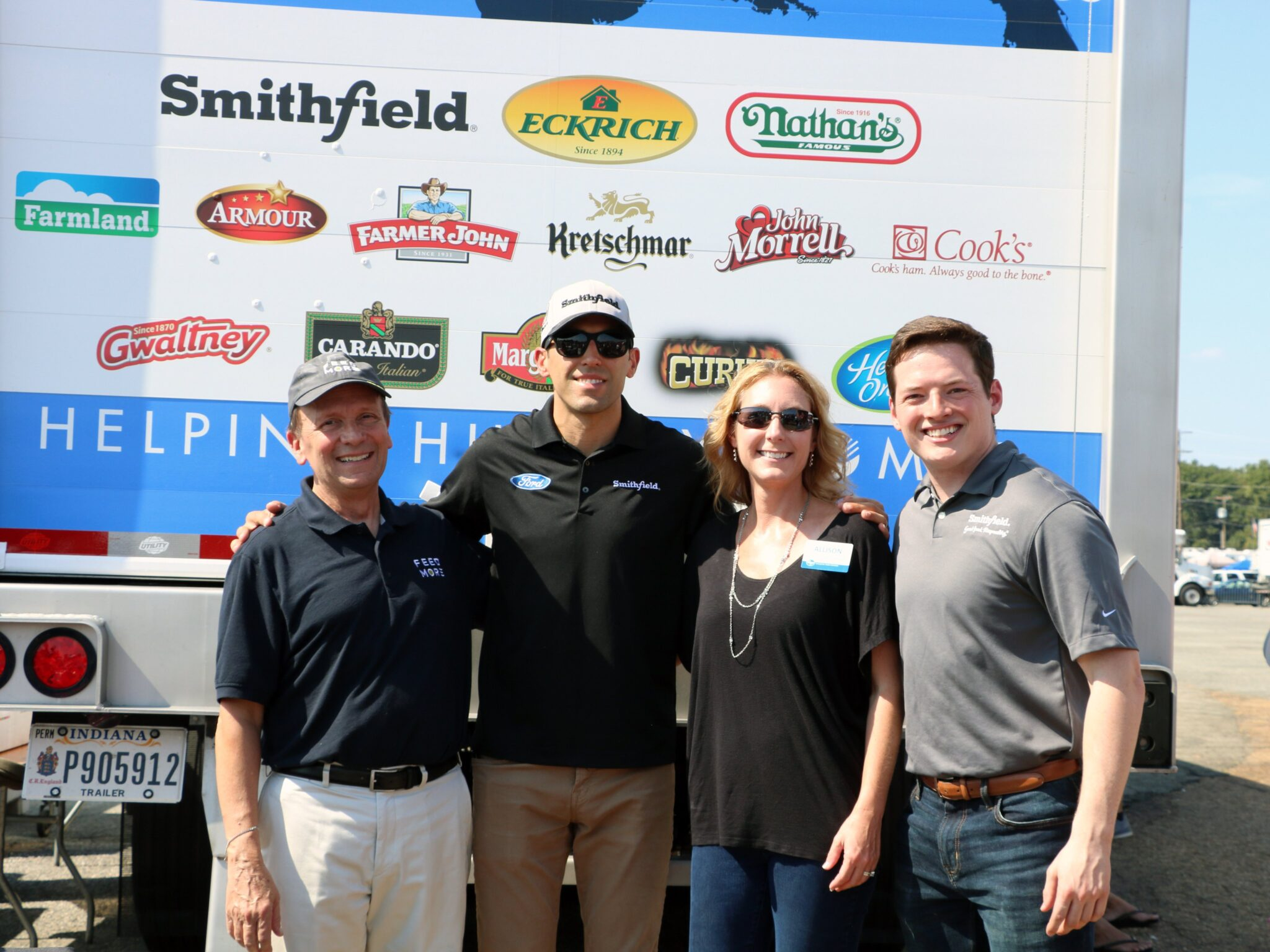 Smithfield Helping Hungry Homes donation at Richmond Raceway_September 21