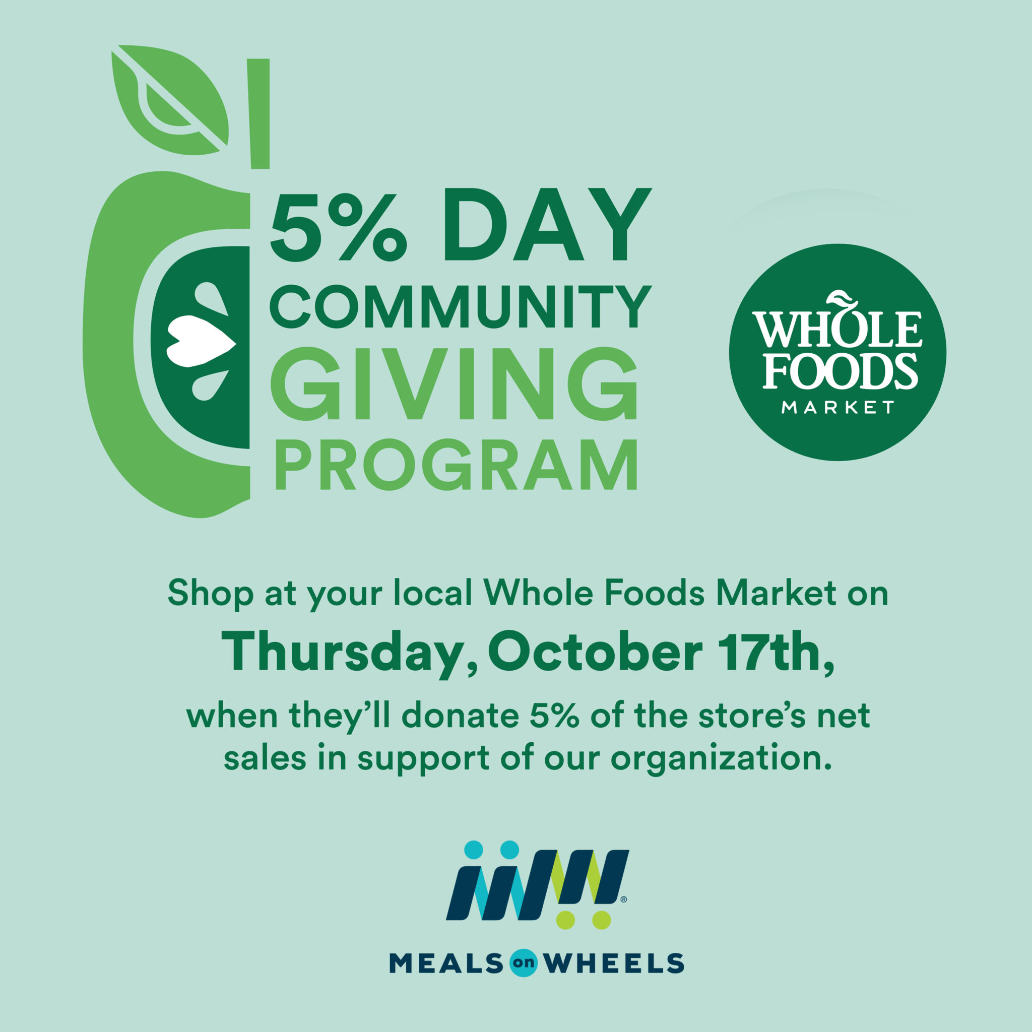 Whole Foods Commuity Giving Day 2019
