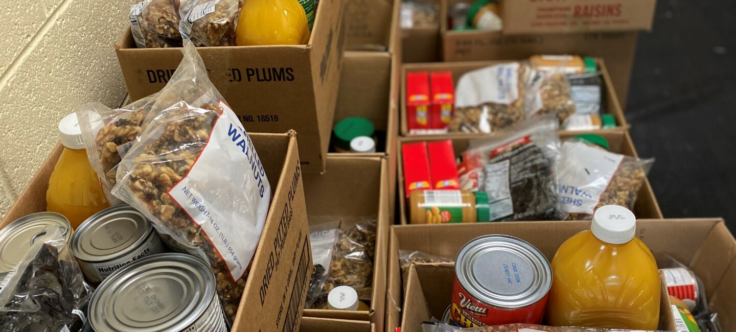 St Thomas Food Pantry curbside distribution