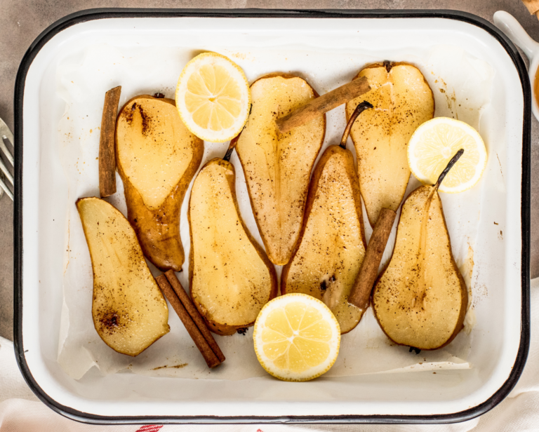 Baked pears sweet dessert Feed More