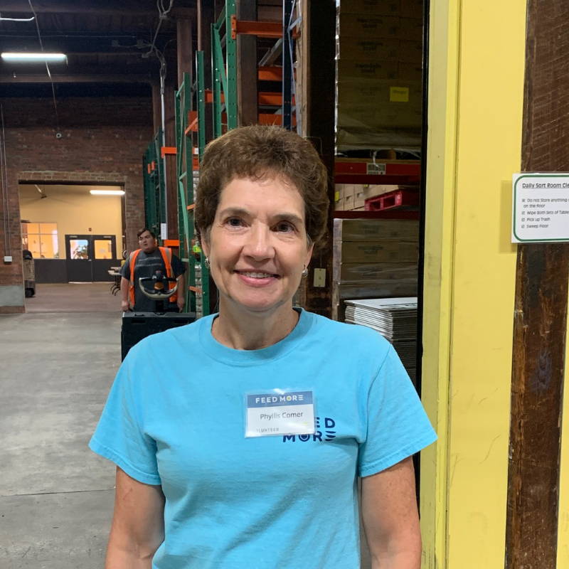 Feed More Volunteer Spotlight Phyllis Comer