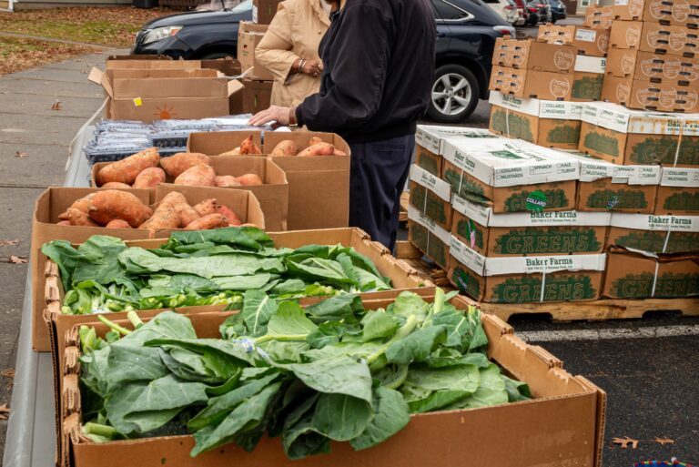 picture of produce at a mobile pantry